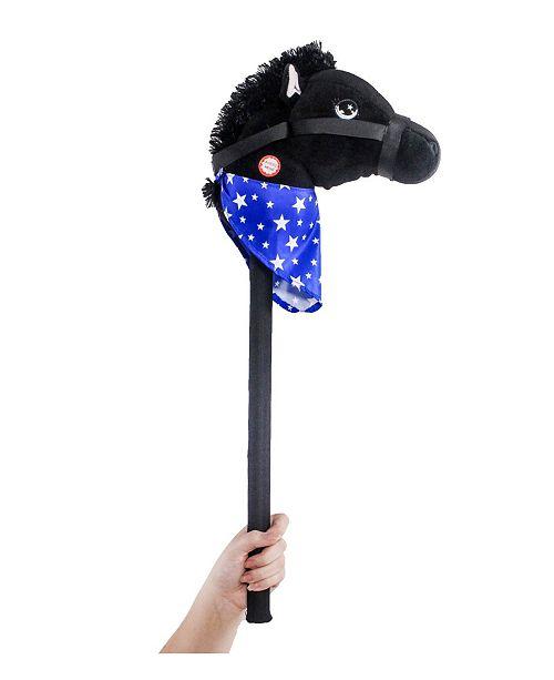 "Ponyland Giddy-Up 28"" Stick Horse Plush, Horse with Sound"