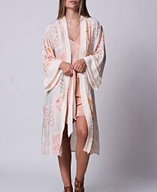 Patchwork Printed Mixed Media Kimono