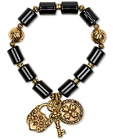 Pavé Multi-Charm Beaded Stretch Bracelet