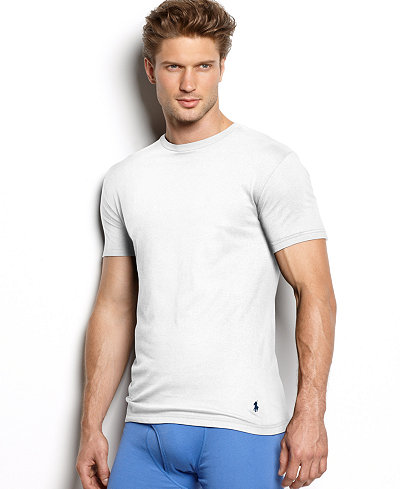 Polo ralph lauren men 39 s underwear classic cotton crew for Polo shirt with undershirt