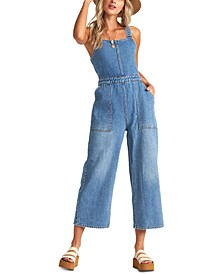 Juniors' Ball In Denim Overalls