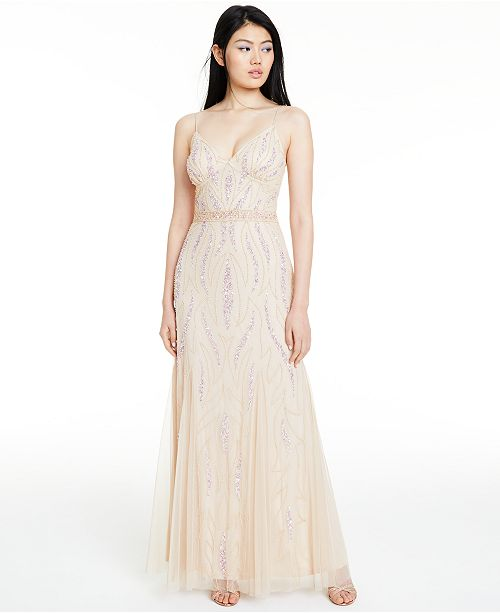 Jump Juniors' Beaded Gown