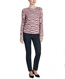 Marled Raglan-Sleeve Sweater