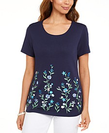 Garden Treasure Floral-Print Top, Created for Macy's