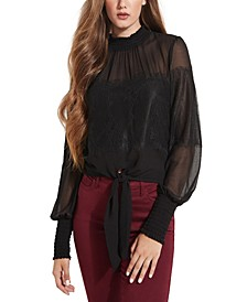 Tamar Mix Tie-Front Top