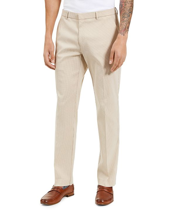 Tommy Hilfiger Men's Modern-Ft Stretch Mini-Check Performance Pants