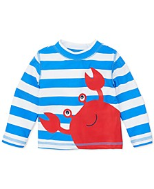 Baby Boys Striped Crab Rash Guard