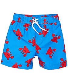 Baby Boys Crab-Print Swim Trunks