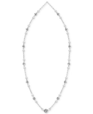 """Filigree Bead 18"""" Statement Necklace in Sterling Silver"""