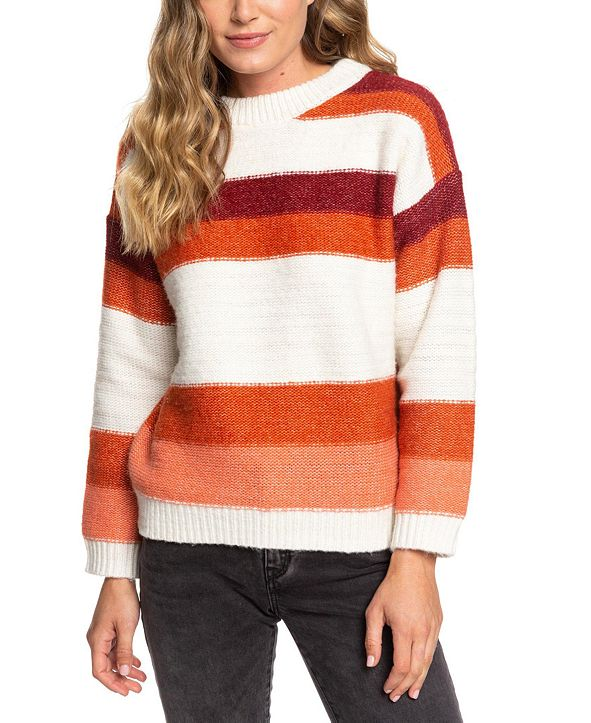 Roxy Juniors' Trip For Two Striped Sweater