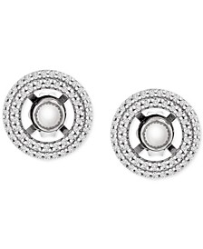 Diamond Circle Earring Jackets (1/3 ct. t.w.) in 14k White Gold
