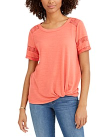 Lace-Inset Top, Created For Macy's