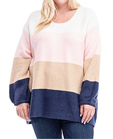 Plus Size Multicolored Colorblocked Sweater