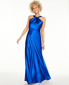 Twisted Halter Gown