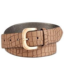 Matte Croc-Embossed Belt