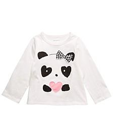 Baby Girls Panda Hearts T-Shirt, Created For Macy's