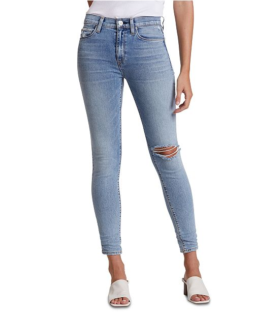 Hudson Jeans Barbara Ripped High-Rise Ankle Skinny Jeans