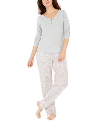 Women's Ribbed Pajama Top, Created for Macy's