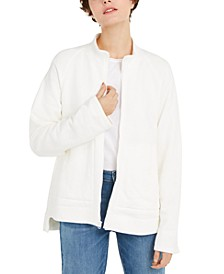 Organic Cotton Funnel-Neck Jacket