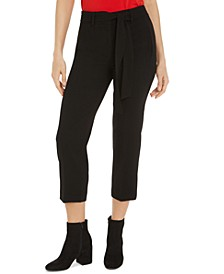 Tie-Waist Cropped Dress Pants, Created for Macy's