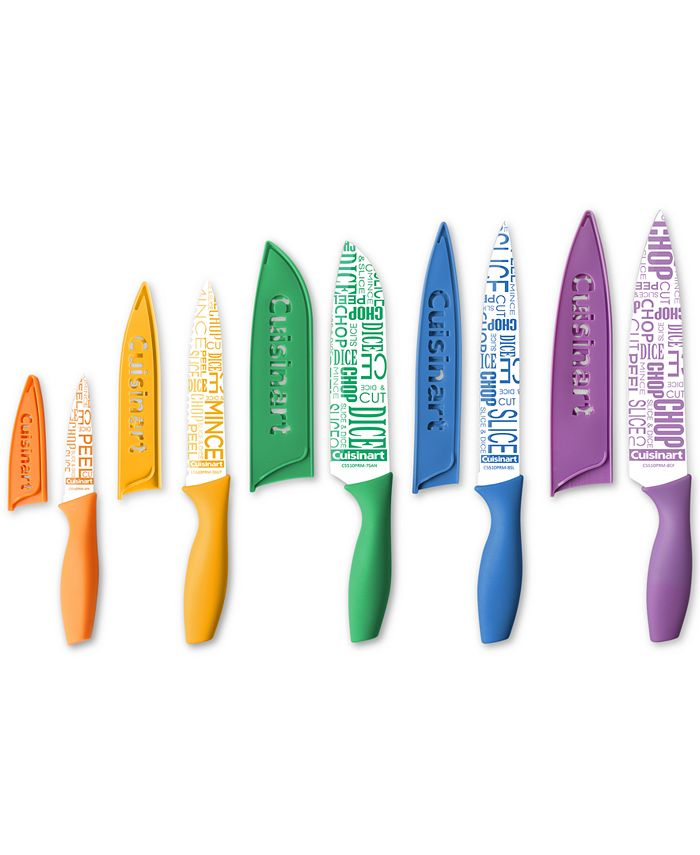 Cuisinart - 10-Pc. Ceramic-Coated Printed Cutlery Set with Blade Guards
