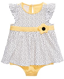 Baby Girls Sunflower Sunsuit, Created For Macy's