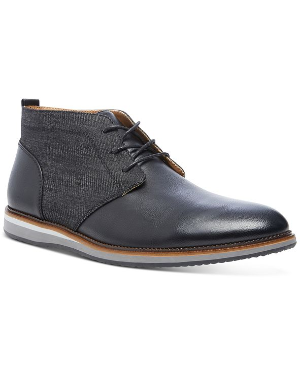 Steve Madden Men's Hinton Mixed-Media Chukka Boots