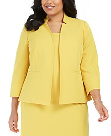 Plus Size Stand-Collar Blazer