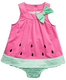 Baby Girls Cotton Watermelon Sunsuit, Created For Macy's