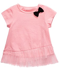 Baby Girls Tulle-Hem T-Shirt, Created For Macy's