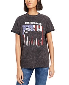 Cotton Beatles Flag Graphic T-Shirt