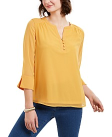 Sheer-Sleeve Top, Created For Macy's