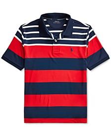 Big Boys Performance Stretch Jersey Polo Shirt