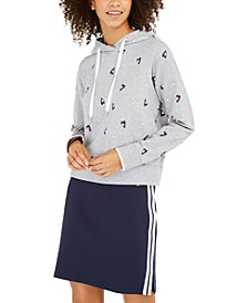 Cropped Hearts Hoodie