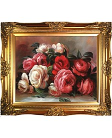 "by Overstockart Discarded Roses by Pierre-Auguste Renoir with Victorian Frame Oil Painting Wall Art, 28"" x 24"""