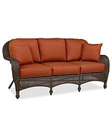 Monterey Wicker Outdoor Sofa: with Custom Sunbrella®,  Created for Macy's