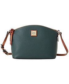 Pebble Leather Suki Crossbody