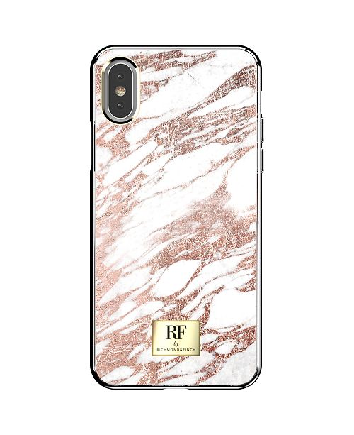Richmond&Finch Rose Gold Marble Case for iPhone XS Max