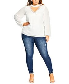 Trendy Plus Size Embrace Lace Top