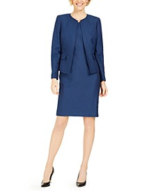 Jacquard Sheath Dress Suit