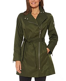 Hooded Belted Raincoat