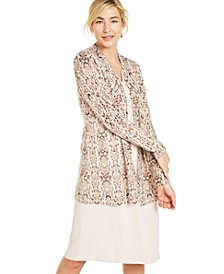 Snake-Print Cashmere Cardigan, Created for Macy's