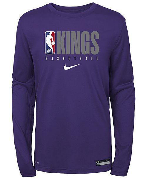 Nike Big Boys Sacramento Kings Practice Long Sleeve T-Shirt