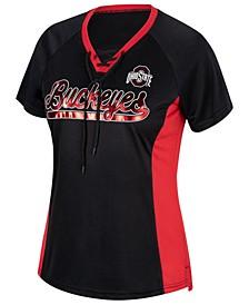 Women's Ohio State Buckeyes Lace Up Spirit T-Shirt