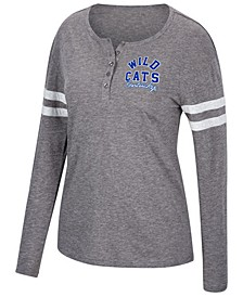 Women's Kentucky Wildcats Henley Long Sleeve T-Shirt