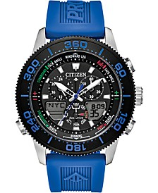 Eco-Drive Men's Promaster Sailhawk Analog-Digital Blue Polyurethane Strap Watch 44mm