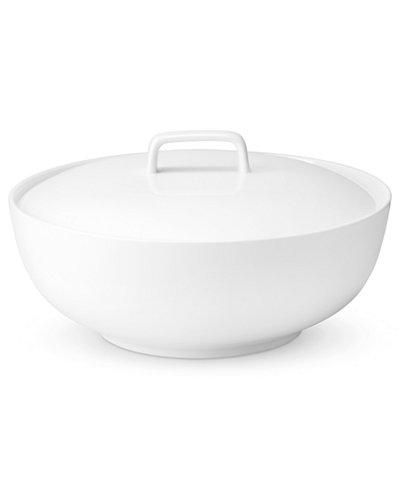 The Cellar Whiteware Covered Vegetable Bowl