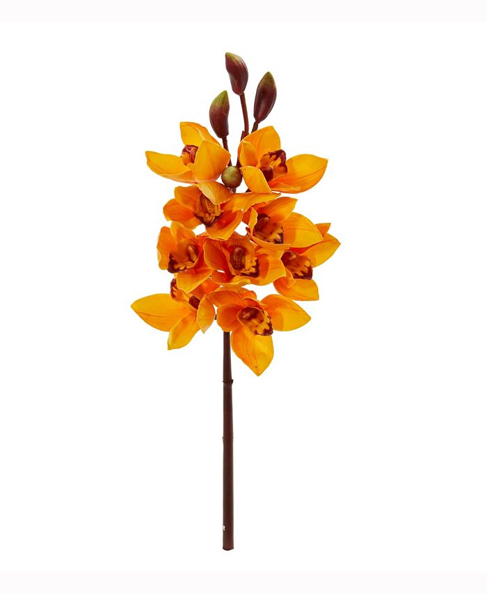Nearly Natural - 20in. Cymbidium Orchid Artificial Flower Set of 4