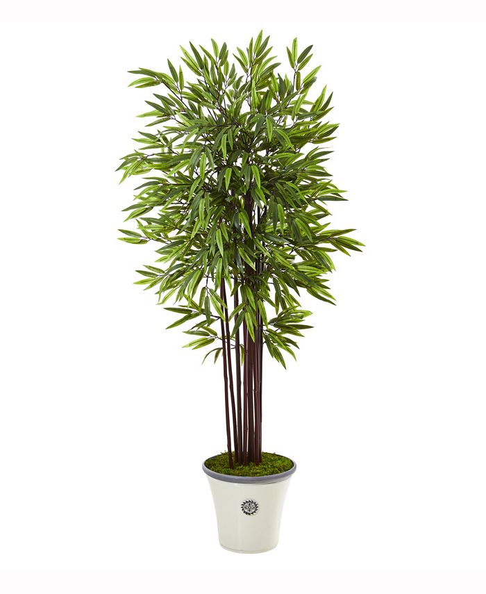 Nearly Natural - 5.5ft. Bamboo Artificial Tree in Decorative Planter