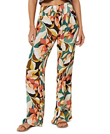 Juniors' Johnny Floral-Print Pants